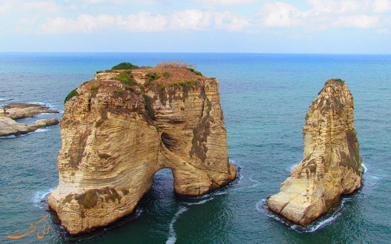 با نگهبانان شهر بیروت، صخره های روشه آشنا شوید!